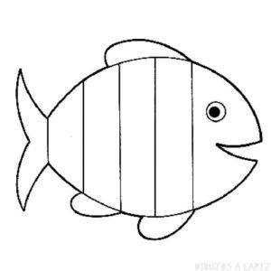 dibujos infantiles de pescados