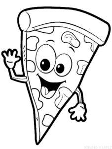 imagenes de pizza en caricatura