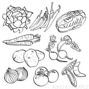 imagenes de verduras para colorear