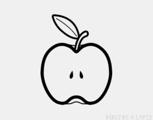 manzana animada para colorear