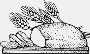 pan en dibujo