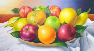pinturas de frutas y verduras