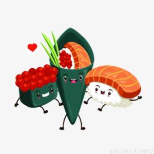 sushi dibujos animados