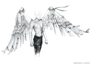 angel para colorear