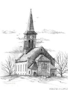cómo dibujar una iglesia