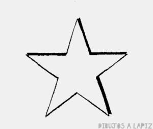 como dibujar una estrella de 5 puntas