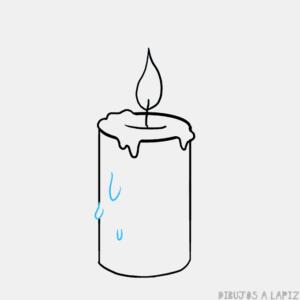 como dibujar una vela de navidad
