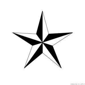 como hacer una estrella de 5 puntas