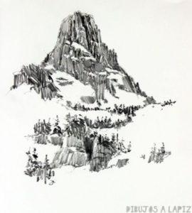 cristal de nieve dibujo