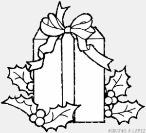 dibujo caja regalo