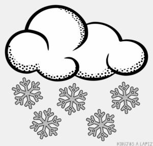 dibujo de nieve para colorear