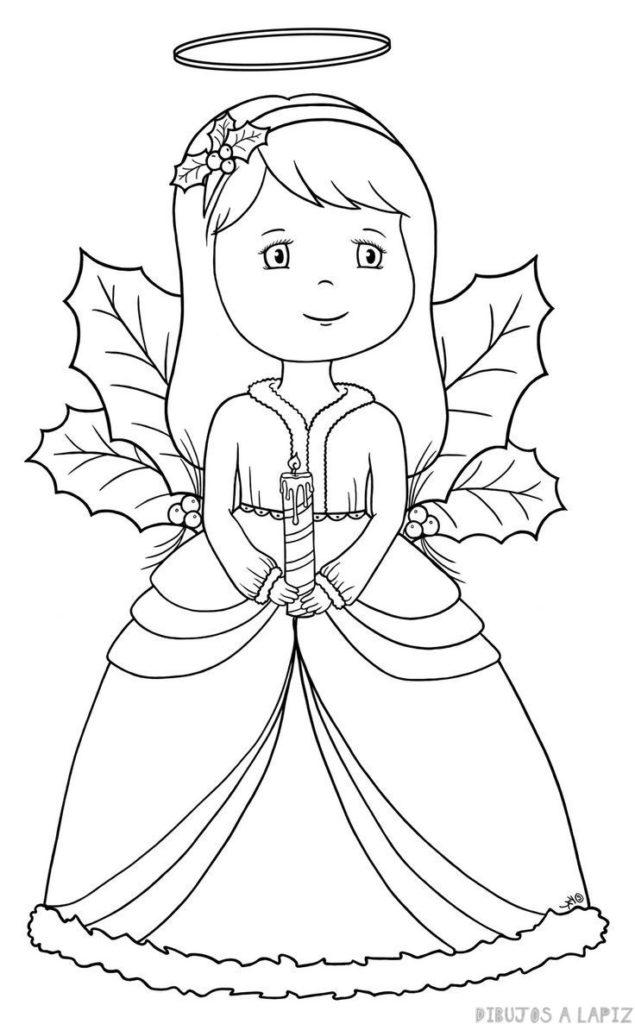 dibujos de angeles faciles