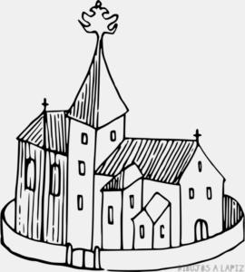 dibujos de iglesias para imprimir