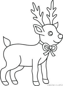 dibujos de renos para colorear