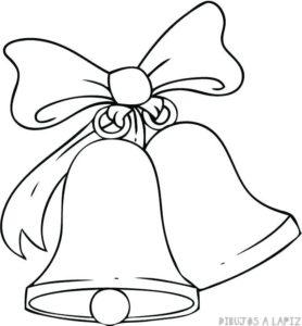 imagenes de campanas navideñas para colorear