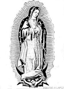 imagenes de la virgen de guadalupe para dibujar