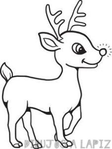 reno navideño para colorear