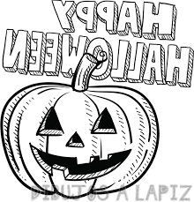 calabaza halloween dibujo