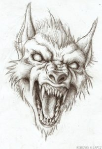 como dibujar a un hombre lobo