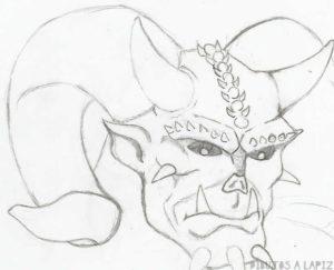 demonio animado