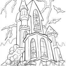 dibujo castillo infantil