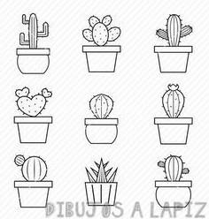 dibujos de cactus mexicanos
