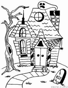 dibujos de casas embrujadas de halloween