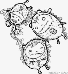 dibujos de monstruos para colorear