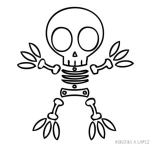 esqueleto halloween para imprimir