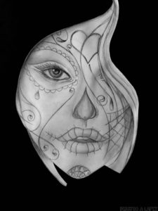 imagenes de catrinas dibujadas