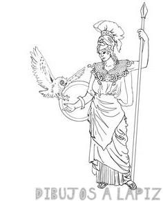 atenea diosa griega para dibujar