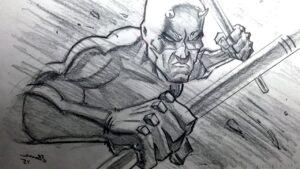 como dibujar a lapiz a daredevil
