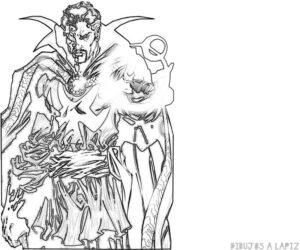 como dibujar al doctor strange