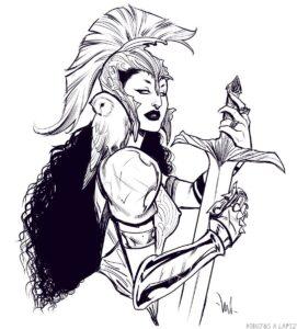 como dibujar la diosa atenea