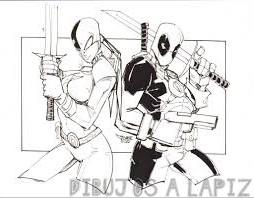 deadpool animado para dibujar