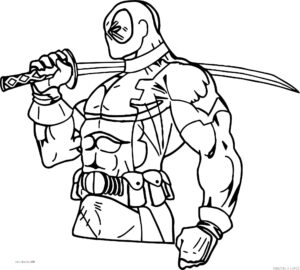 deadpool dibujo a lapiz 1