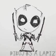 deadpool para dibujar a lapiz