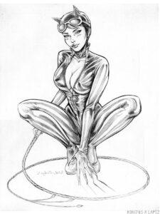 dibujo catwoman