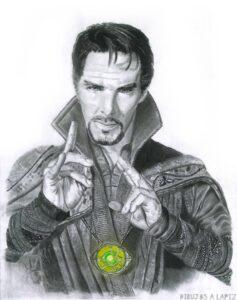 dibujo de doctor strange kawaii