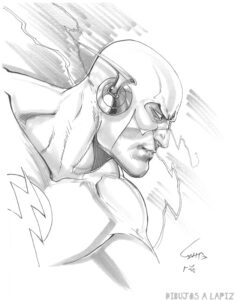 dibujo de flash para pintar