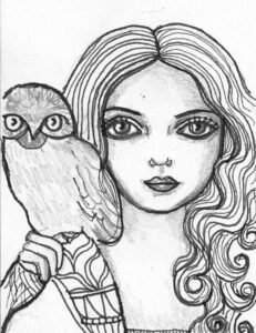dibujo de la diosa atenea para colorear