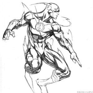 dibujo flash para colorear