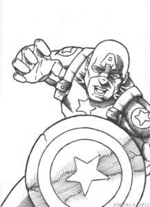 dibujos animados de capitán américa