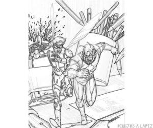 dibujos de antman faciles
