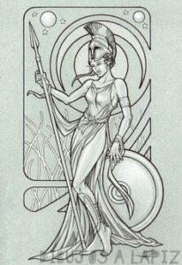 dibujos de atenea
