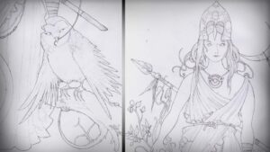dibujos de atenea diosa griega