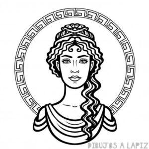 dibujos de atenea para colorear