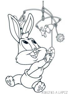 dibujos de bugs bunny para colorear
