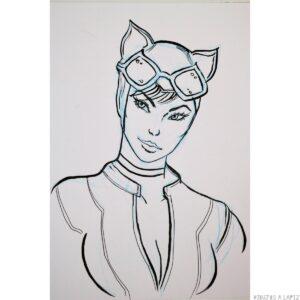 dibujos de catwoman para colorear e imprimir