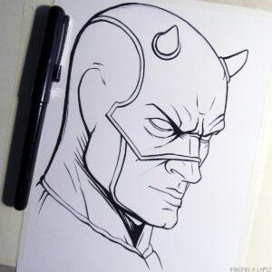dibujos de daredevil para colorear